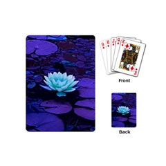 Lotus Flower Magical Colors Purple Blue Turquoise Playing Cards (Mini)