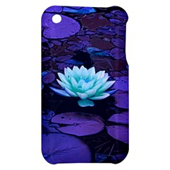 Lotus Flower Magical Colors Purple Blue Turquoise Apple iPhone 3G/3GS Hardshell Case