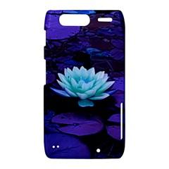 Lotus Flower Magical Colors Purple Blue Turquoise Motorola Droid Razr XT912