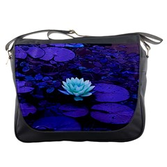 Lotus Flower Magical Colors Purple Blue Turquoise Messenger Bags