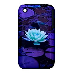 Lotus Flower Magical Colors Purple Blue Turquoise Apple iPhone 3G/3GS Hardshell Case (PC+Silicone)