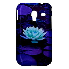 Lotus Flower Magical Colors Purple Blue Turquoise Samsung Galaxy Ace Plus S7500 Hardshell Case