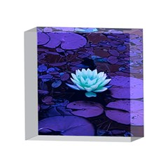 Lotus Flower Magical Colors Purple Blue Turquoise 4 x 4  Acrylic Photo Blocks