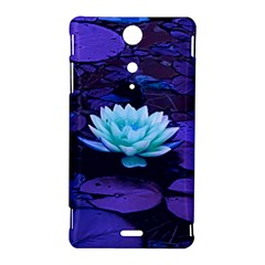 Lotus Flower Magical Colors Purple Blue Turquoise Sony Xperia TX