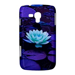 Lotus Flower Magical Colors Purple Blue Turquoise Samsung Galaxy Duos I8262 Hardshell Case