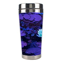 Lotus Flower Magical Colors Purple Blue Turquoise Stainless Steel Travel Tumblers