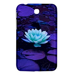 Lotus Flower Magical Colors Purple Blue Turquoise Samsung Galaxy Tab 3 (7 ) P3200 Hardshell Case