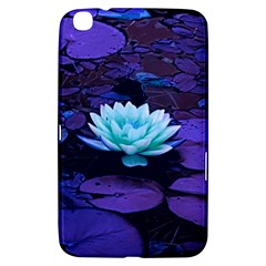 Lotus Flower Magical Colors Purple Blue Turquoise Samsung Galaxy Tab 3 (8 ) T3100 Hardshell Case