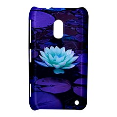 Lotus Flower Magical Colors Purple Blue Turquoise Nokia Lumia 620