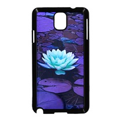 Lotus Flower Magical Colors Purple Blue Turquoise Samsung Galaxy Note 3 Neo Hardshell Case (black)