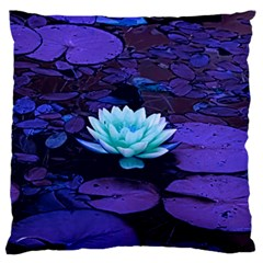 Lotus Flower Magical Colors Purple Blue Turquoise Standard Flano Cushion Case (one Side)