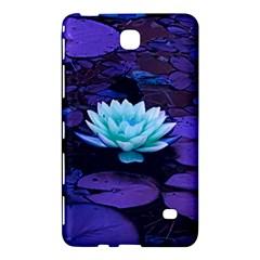 Lotus Flower Magical Colors Purple Blue Turquoise Samsung Galaxy Tab 4 (8 ) Hardshell Case