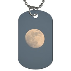 The Moon and blue sky Dog Tag (One Side)