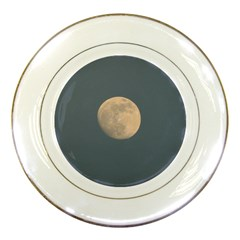 The Moon and blue sky Porcelain Plates