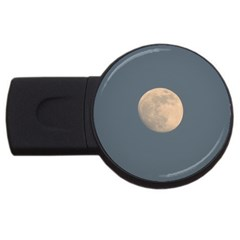 The Moon and blue sky USB Flash Drive Round (4 GB)