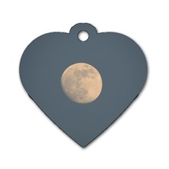 The Moon and blue sky Dog Tag Heart (One Side)