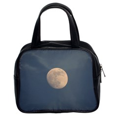 The Moon and blue sky Classic Handbags (2 Sides)