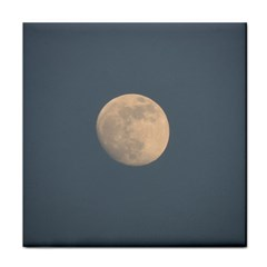 The Moon and blue sky Face Towel