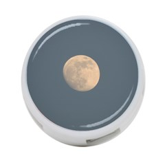 The Moon and blue sky 4-Port USB Hub (Two Sides)