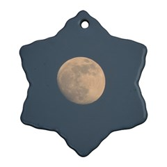 The Moon and blue sky Ornament (Snowflake)