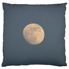 The Moon And Blue Sky Large Flano Cushion Case (one Side)