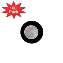Full Moon At Night 1  Mini Magnets (100 Pack)