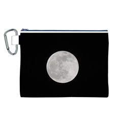 Full Moon at night Canvas Cosmetic Bag (L)