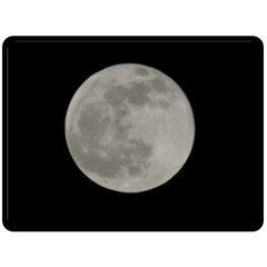 Close To The Full Moon Double Sided Fleece Blanket (large)