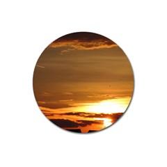 Summer Sunset Magnet 3  (round)