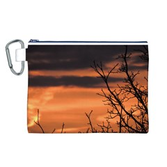 Tree branches and sunset Canvas Cosmetic Bag (L)