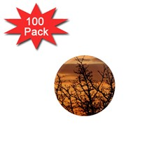 Colorful Sunset 1  Mini Magnets (100 Pack)