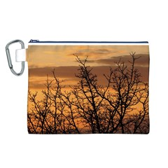 Colorful Sunset Canvas Cosmetic Bag (L)