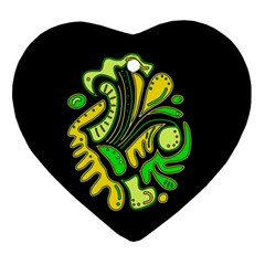 Yellow and green spot Ornament (Heart)