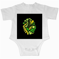 Yellow and green spot Infant Creepers