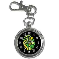 Yellow and green spot Key Chain Watches