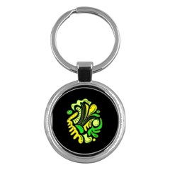 Yellow and green spot Key Chains (Round)