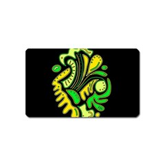 Yellow and green spot Magnet (Name Card)