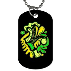 Yellow and green spot Dog Tag (One Side)