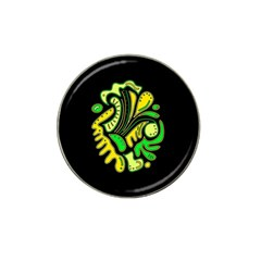 Yellow and green spot Hat Clip Ball Marker (4 pack)