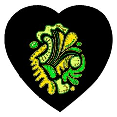Yellow and green spot Jigsaw Puzzle (Heart)