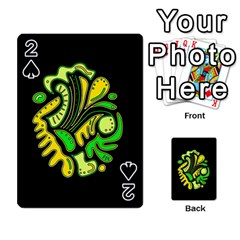 Yellow and green spot Playing Cards 54 Designs