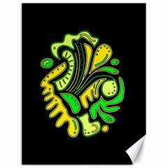 Yellow and green spot Canvas 18  x 24
