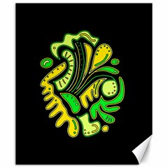Yellow and green spot Canvas 20  x 24