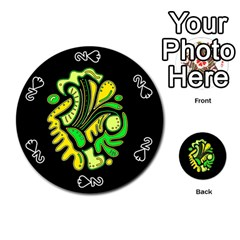 Yellow and green spot Playing Cards 54 (Round)