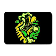 Yellow and green spot Small Doormat