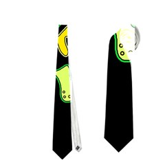Yellow and green spot Neckties (One Side)