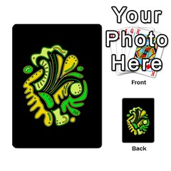 Yellow and green spot Multi-purpose Cards (Rectangle)