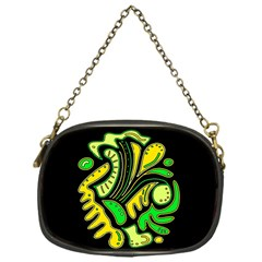 Yellow and green spot Chain Purses (One Side)