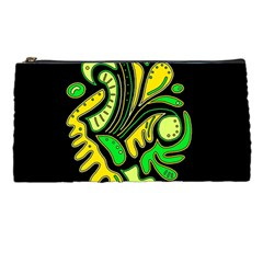 Yellow and green spot Pencil Cases