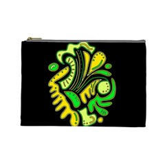 Yellow and green spot Cosmetic Bag (Large)